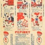 František Voborský: Pepina Rejholcová, reklama na Pepinky, 1932