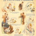 René Klapač: Ze života paní Čtenářové, reklama Červené knihovny, 1933