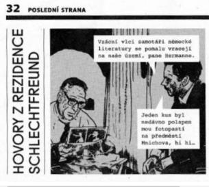 Tato diplomová práce se zabývá problematikou komiksového stripu v kontextu jeho tradice v České republice, a to hned v několika oblastech. Mapuje vývoj formátu a jeho výskyt v českých periodikách stejně jako postupný rozvoj použití komiksové řeči a různé pohledy na definici stripu. Hlavním cílem práce Terezy Drahoňovské je ale zachycení principů fungování spolupráce tvůrce komiksového stripu s redakcí kulturního časopisu, ve kterém strip vychází.